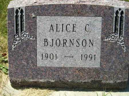 BJORNSON, ALICE C. - Kingsbury County, South Dakota | ALICE C. BJORNSON - South Dakota Gravestone Photos