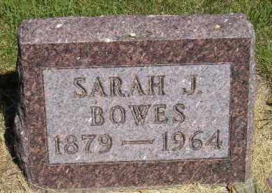 BOWES, SARAH J. - Kingsbury County, South Dakota | SARAH J. BOWES - South Dakota Gravestone Photos