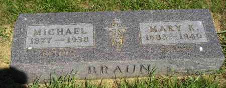 BRAUN, MARY K. - Kingsbury County, South Dakota | MARY K. BRAUN - South Dakota Gravestone Photos