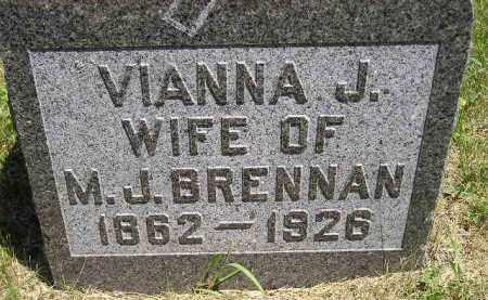 BRENNAN, VIANNA J. - Kingsbury County, South Dakota | VIANNA J. BRENNAN - South Dakota Gravestone Photos