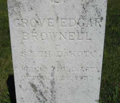 BROWNELL, GROVE EDGAR - Kingsbury County, South Dakota | GROVE EDGAR BROWNELL - South Dakota Gravestone Photos