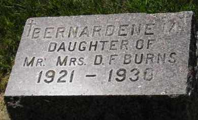 BURNS, BERNARDENE - Kingsbury County, South Dakota | BERNARDENE BURNS - South Dakota Gravestone Photos