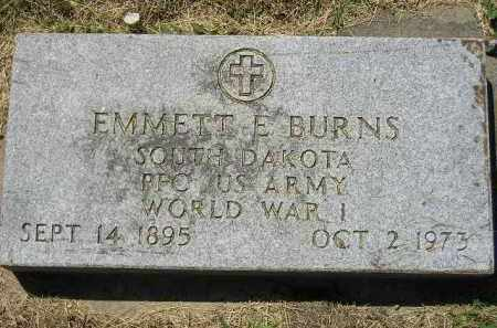 BURNS, EMMETT E. (WW I) - Kingsbury County, South Dakota | EMMETT E. (WW I) BURNS - South Dakota Gravestone Photos
