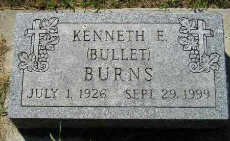 BURNS, KENNETH E. - Kingsbury County, South Dakota | KENNETH E. BURNS - South Dakota Gravestone Photos