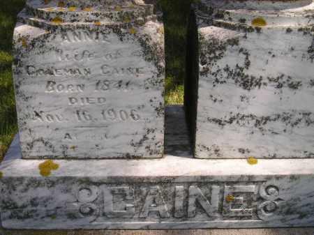 CAINE, ANNIE - Kingsbury County, South Dakota | ANNIE CAINE - South Dakota Gravestone Photos