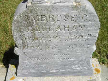 CALLAHAN, AMBROSE C. - Kingsbury County, South Dakota   AMBROSE C. CALLAHAN - South Dakota Gravestone Photos