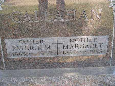 CALLAHAN, PATRICK M. - Kingsbury County, South Dakota | PATRICK M. CALLAHAN - South Dakota Gravestone Photos