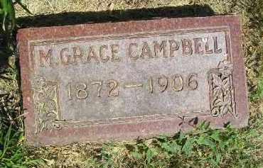 CAMPBELL, M. GRACE - Kingsbury County, South Dakota   M. GRACE CAMPBELL - South Dakota Gravestone Photos