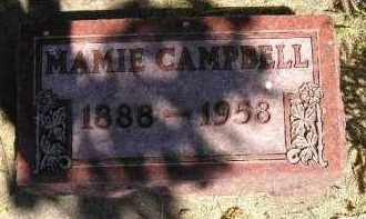 CAMPBELL, MAMIE - Kingsbury County, South Dakota | MAMIE CAMPBELL - South Dakota Gravestone Photos