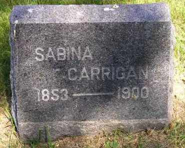 CARRIGAN, SABINA - Kingsbury County, South Dakota | SABINA CARRIGAN - South Dakota Gravestone Photos