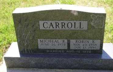 CARROLL, ROBIN K. - Kingsbury County, South Dakota | ROBIN K. CARROLL - South Dakota Gravestone Photos