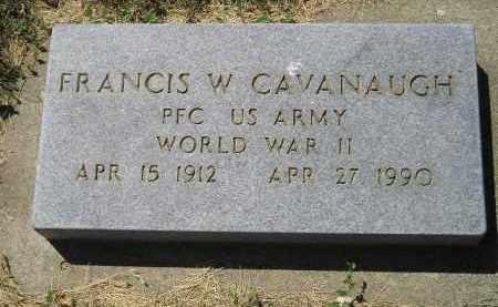 CAVANAUGH, FRANCIS W. - Kingsbury County, South Dakota | FRANCIS W. CAVANAUGH - South Dakota Gravestone Photos