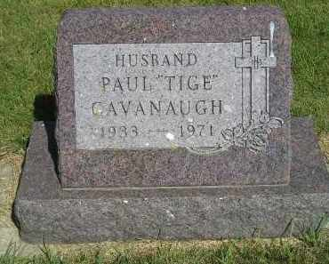 "CAVANAUGH, PAUL ""TIGE"" - Kingsbury County, South Dakota   PAUL ""TIGE"" CAVANAUGH - South Dakota Gravestone Photos"