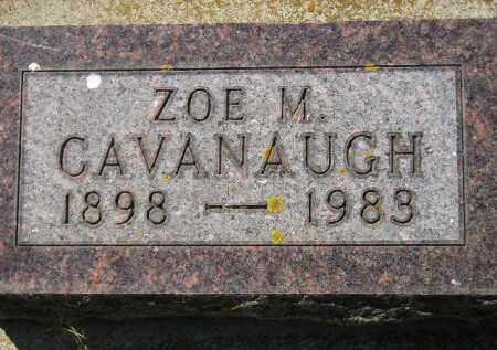 CAVANAUGH, ZOE M. - Kingsbury County, South Dakota   ZOE M. CAVANAUGH - South Dakota Gravestone Photos
