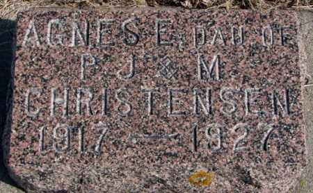 CHRISTENSEN, AGNES E. - Kingsbury County, South Dakota   AGNES E. CHRISTENSEN - South Dakota Gravestone Photos
