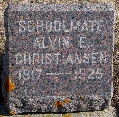 CHRISTIANSEN, ALVIN E. - Kingsbury County, South Dakota | ALVIN E. CHRISTIANSEN - South Dakota Gravestone Photos