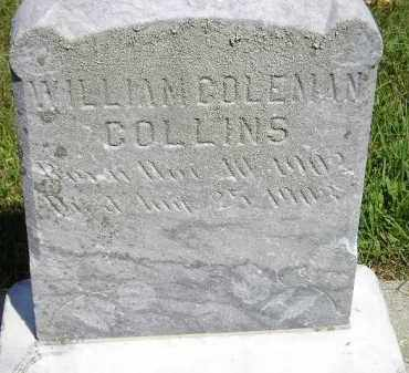 COLLINS, WILLIAM COLEMAN - Kingsbury County, South Dakota | WILLIAM COLEMAN COLLINS - South Dakota Gravestone Photos