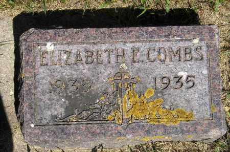 COMBS, ELIZABETH E. - Kingsbury County, South Dakota   ELIZABETH E. COMBS - South Dakota Gravestone Photos