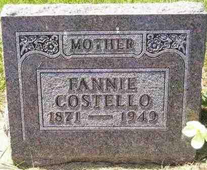 COSTELLO, FANNIE - Kingsbury County, South Dakota | FANNIE COSTELLO - South Dakota Gravestone Photos