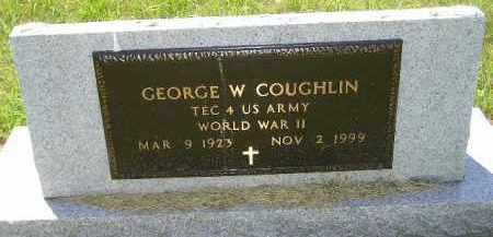 COUGHLIN, GEORGE W. (WW II) - Kingsbury County, South Dakota | GEORGE W. (WW II) COUGHLIN - South Dakota Gravestone Photos