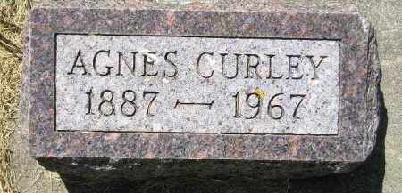 CURLEY, AGNES - Kingsbury County, South Dakota | AGNES CURLEY - South Dakota Gravestone Photos
