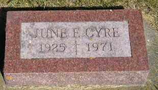 CYRE, JUNE E. - Kingsbury County, South Dakota | JUNE E. CYRE - South Dakota Gravestone Photos
