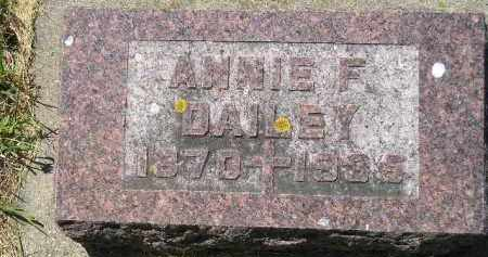 DAILEY, ANNIE F. - Kingsbury County, South Dakota | ANNIE F. DAILEY - South Dakota Gravestone Photos