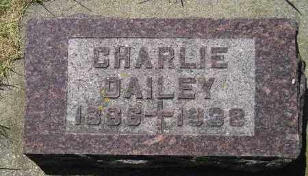 DAILEY, CHARLIE - Kingsbury County, South Dakota | CHARLIE DAILEY - South Dakota Gravestone Photos
