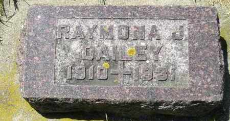 DAILEY, RAYMONA J. - Kingsbury County, South Dakota | RAYMONA J. DAILEY - South Dakota Gravestone Photos
