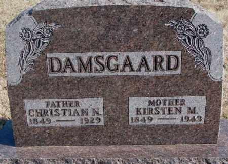 DAMSGAARD, CHRISTIAN N. - Kingsbury County, South Dakota | CHRISTIAN N. DAMSGAARD - South Dakota Gravestone Photos