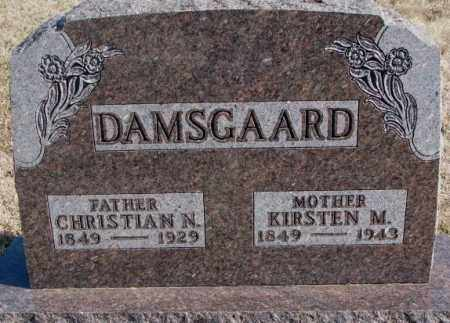 DAMSGAARD, CHRISTIAN N. - Kingsbury County, South Dakota | CHRISTIAN N. DAMSGAARD - South Dakota Gravestone Photos