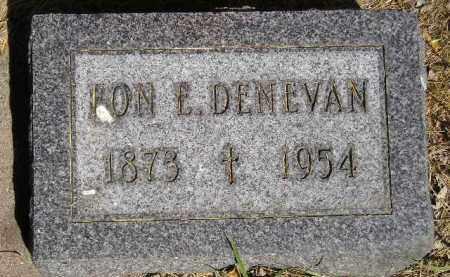 DENEVAN, LON E. - Kingsbury County, South Dakota | LON E. DENEVAN - South Dakota Gravestone Photos