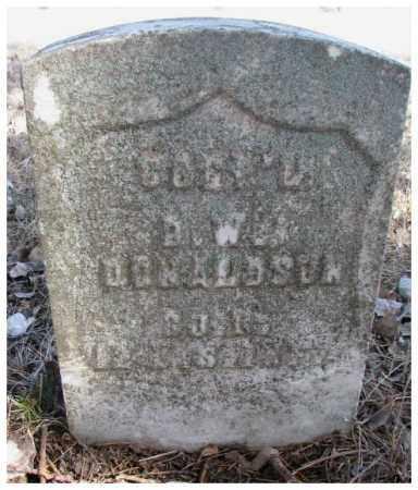 DONALDSON, D.W. (DAVID) - Kingsbury County, South Dakota | D.W. (DAVID) DONALDSON - South Dakota Gravestone Photos