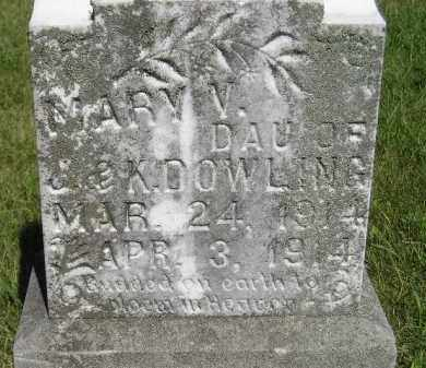DOWLING, MARY V. - Kingsbury County, South Dakota | MARY V. DOWLING - South Dakota Gravestone Photos