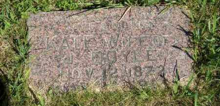 DOYLE, KATE - Kingsbury County, South Dakota | KATE DOYLE - South Dakota Gravestone Photos