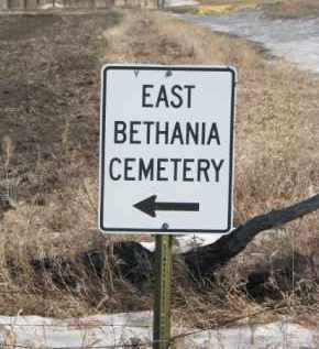 *EAST BETHANIA, ROAD SIGN - Kingsbury County, South Dakota   ROAD SIGN *EAST BETHANIA - South Dakota Gravestone Photos