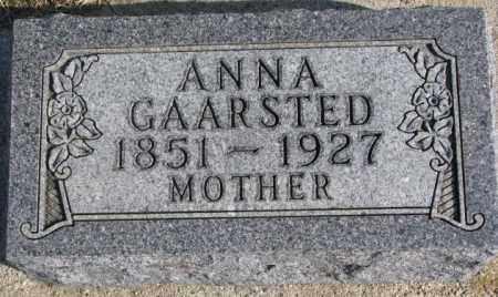 GAARSTED, ANNA - Kingsbury County, South Dakota | ANNA GAARSTED - South Dakota Gravestone Photos