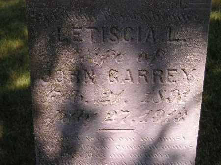 GARREY, LETISCIA L. - Kingsbury County, South Dakota | LETISCIA L. GARREY - South Dakota Gravestone Photos