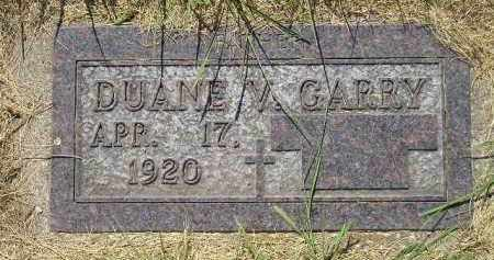 GARRY, DUANE V. - Kingsbury County, South Dakota | DUANE V. GARRY - South Dakota Gravestone Photos