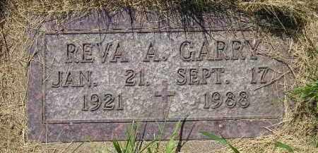 GARRY, REVA A. - Kingsbury County, South Dakota | REVA A. GARRY - South Dakota Gravestone Photos