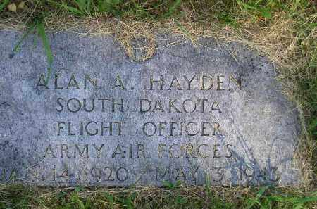 HAYDEN, ALAN A. - Kingsbury County, South Dakota | ALAN A. HAYDEN - South Dakota Gravestone Photos