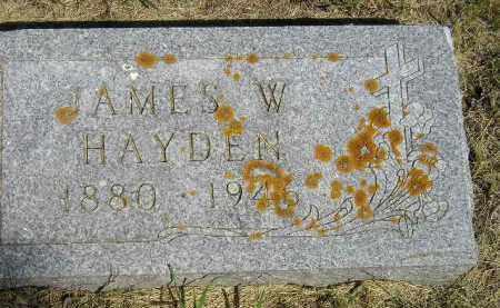 HAYDEN, JAMES W. - Kingsbury County, South Dakota   JAMES W. HAYDEN - South Dakota Gravestone Photos
