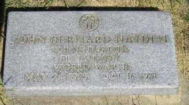 HAYDEN, JOHN BERNARD - Kingsbury County, South Dakota | JOHN BERNARD HAYDEN - South Dakota Gravestone Photos