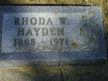 HAYDEN, RHODA W. - Kingsbury County, South Dakota | RHODA W. HAYDEN - South Dakota Gravestone Photos