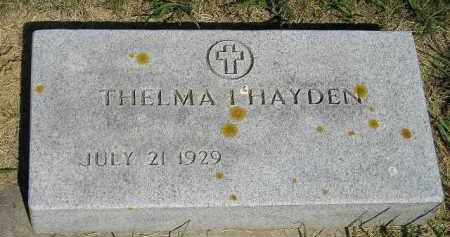 HAYDEN, THELMA I. - Kingsbury County, South Dakota | THELMA I. HAYDEN - South Dakota Gravestone Photos