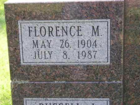 HUNTER, FLORENCE M. (CLOSEUP) - Kingsbury County, South Dakota | FLORENCE M. (CLOSEUP) HUNTER - South Dakota Gravestone Photos