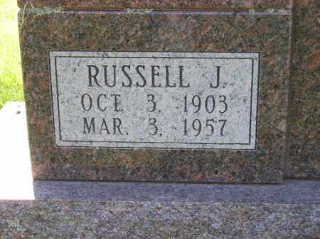 HUNTER, RUSSELL J. (CLOSEUP) - Kingsbury County, South Dakota | RUSSELL J. (CLOSEUP) HUNTER - South Dakota Gravestone Photos