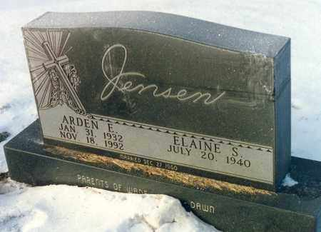 JENSEN, ELAINE S. - Kingsbury County, South Dakota | ELAINE S. JENSEN - South Dakota Gravestone Photos