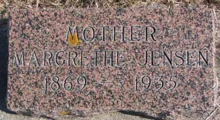 JENSEN, MARGARETHE - Kingsbury County, South Dakota   MARGARETHE JENSEN - South Dakota Gravestone Photos