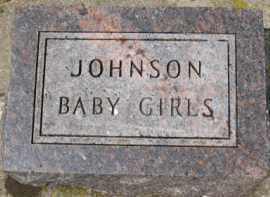 JOHNSON, BABY GIRLS - Kingsbury County, South Dakota | BABY GIRLS JOHNSON - South Dakota Gravestone Photos